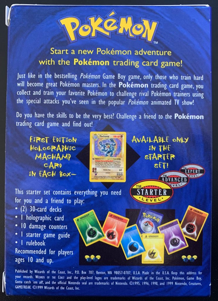 pokemon shadowless 2 player starter deck