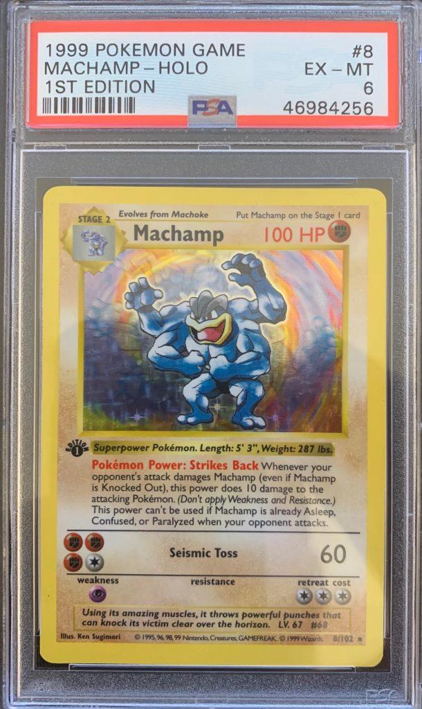 pokemon shadowless machamp psa