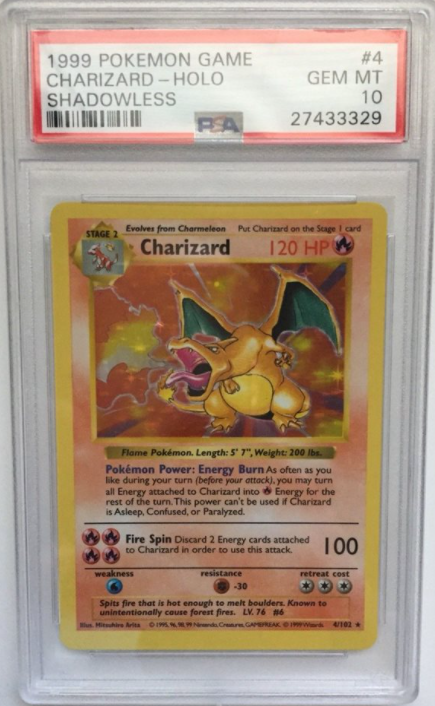 1999 Shadowless Base Set Charizard