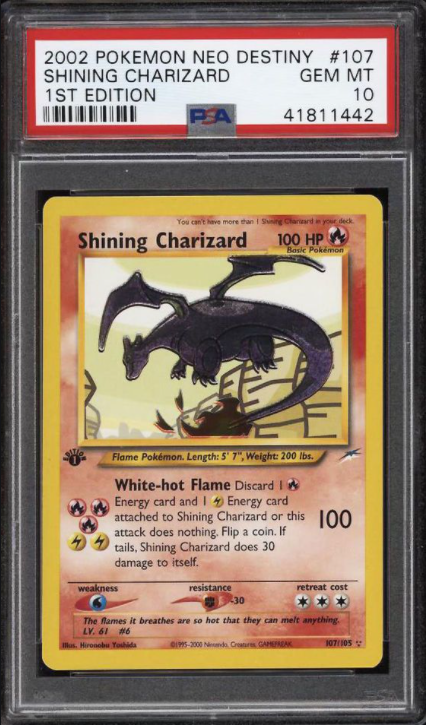 2002 1st Edition Neo Destiny Shining Charizard