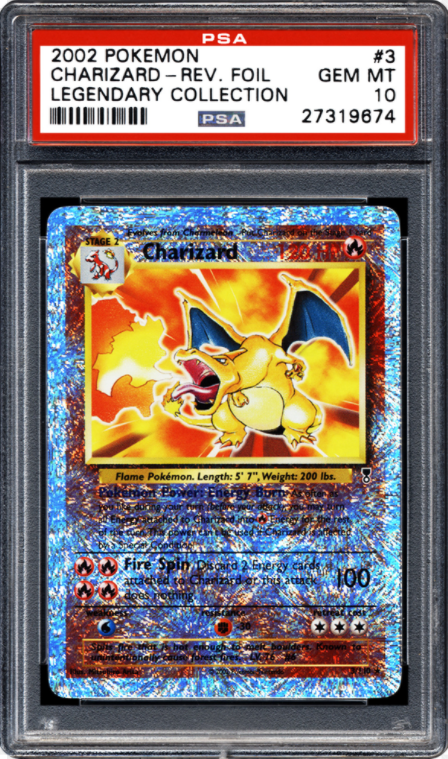 2002 Legendary Collection Reverse Holographic Charizard