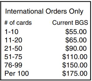 Beckett - international shipping cost